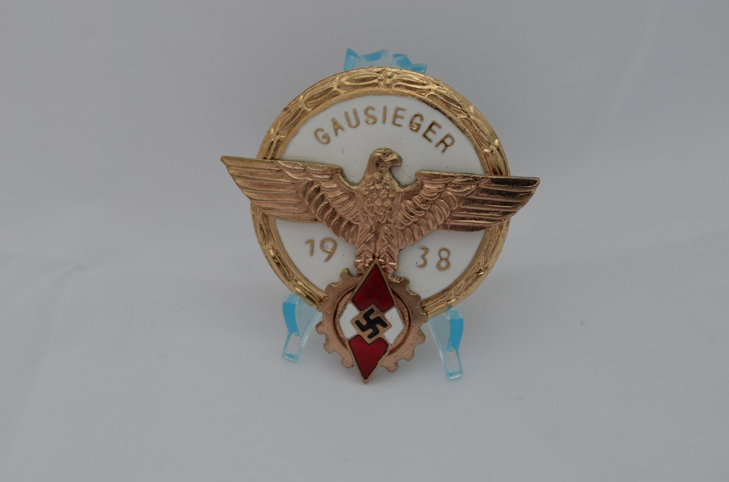 WWII THE GERMAN GOLD BADGE GAUSIEGER 1938
