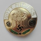 WWII THE GERMAN GOLD BADGE GOTT MIT UNS SS