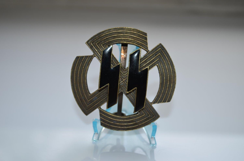 WWII THE GERMAN BRONZE BADGE GERMANIC PROFICIENCY RUNES SS WAFFEN SS