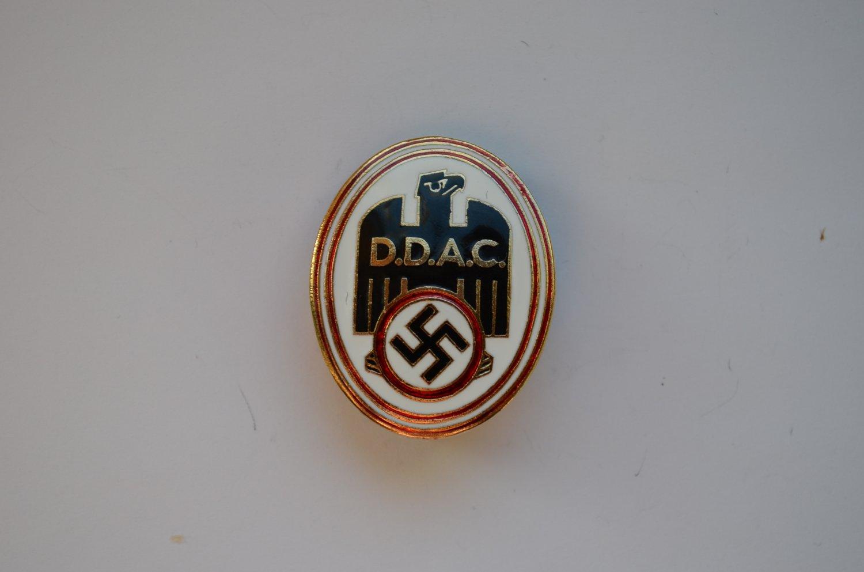 WWII THE GERMAN BADGE DER DEUTSCHE AUTOMOBILCLUB DDAC