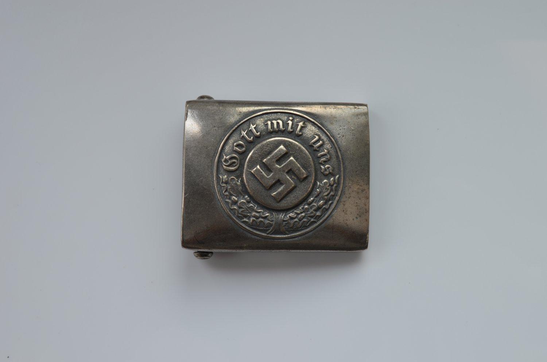 WWII THE GERMAN BELT BUCKLE POLICE POLIZEI GOTT MIT UNS