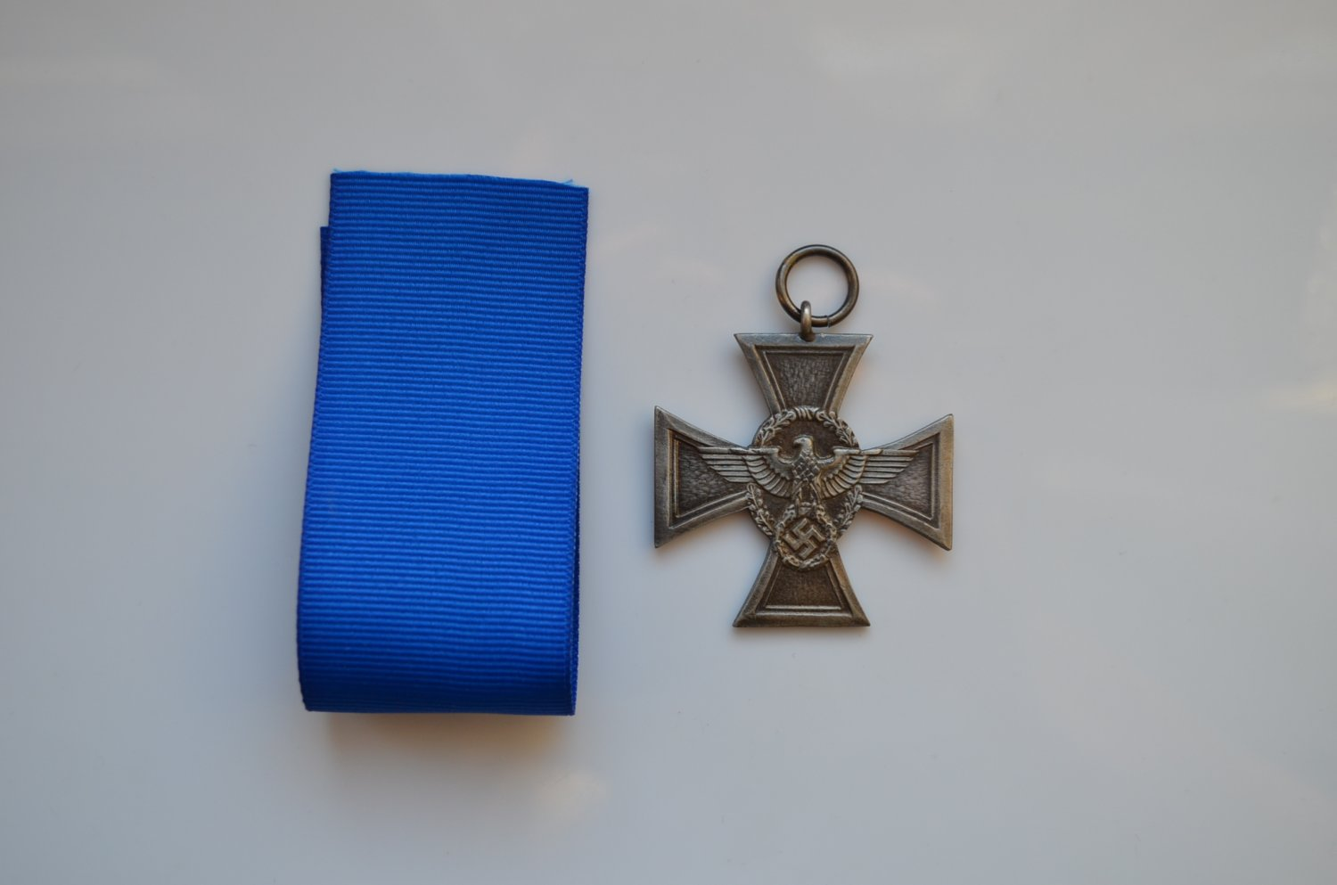 WWII GERMAN SILVER CROSS LONG SERVICE AWARDS OF THE POLICE
