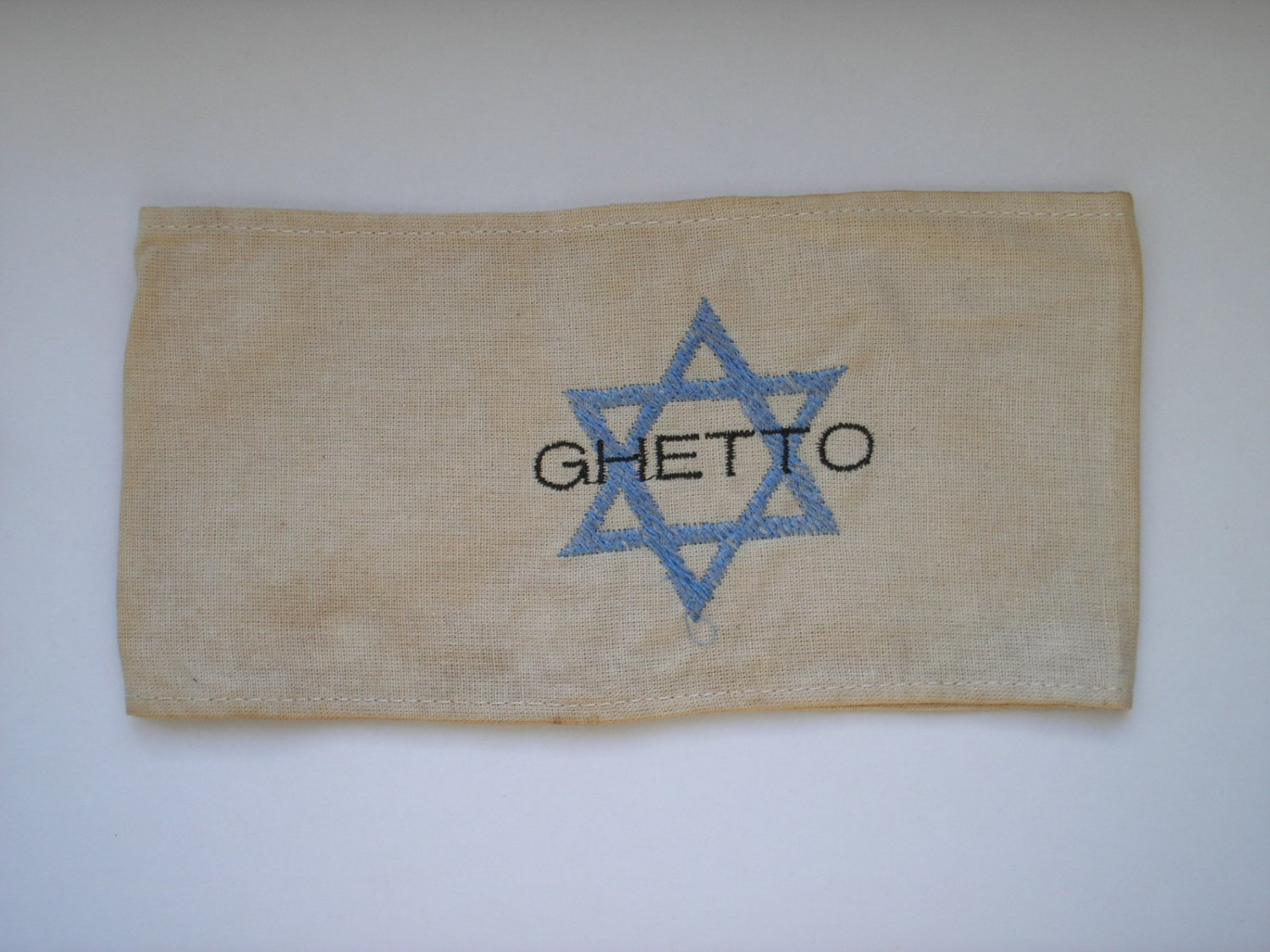 WWII THE GERMAN ARMBAND WITH THE JEWISH GHETTO