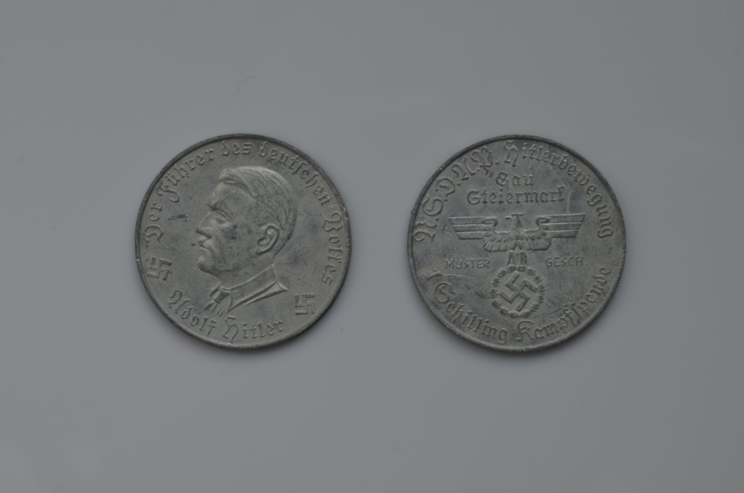 WWII GERMAN MEDAL TOKEN ADOLF HITLER