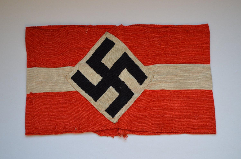 WWII THE ORIGINAL GERMAN ARMBAND HITLERJUGEND HJ