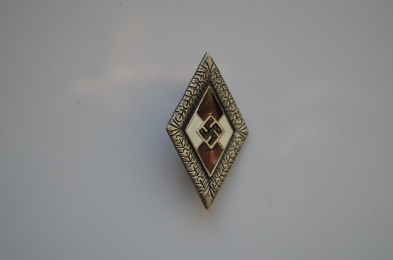 WWII GERMAN SILVER BADGE HITLERJUGEND