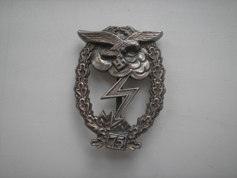 WWII THE GERMAN BADGE LUFTWAFFE GROUND ASSAULT 75