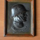 WWII THE BRONZE PLAQUE OF GERMAN SOLDIER