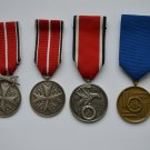 WWII 4 GERMAN MEDALS