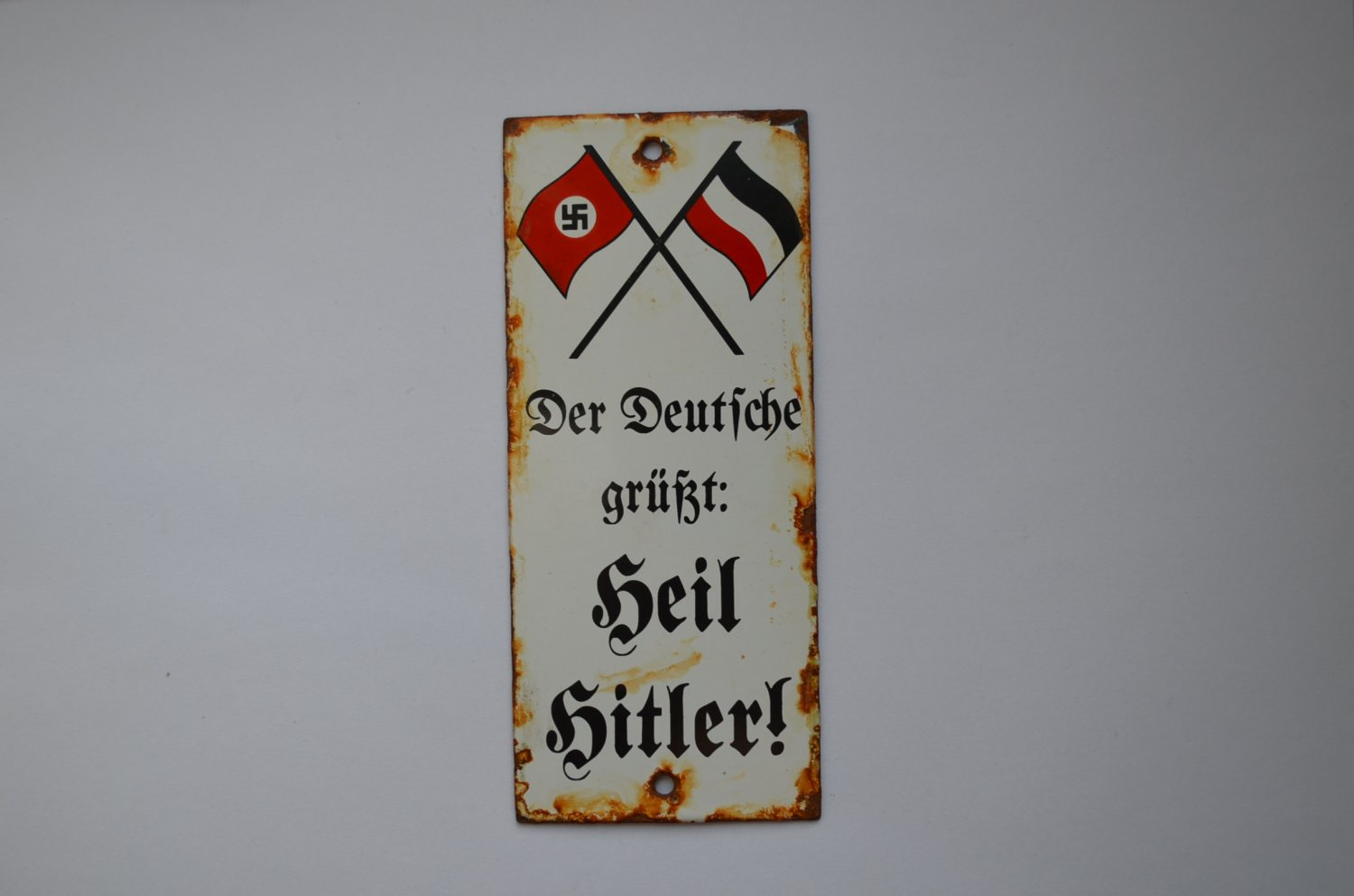 WWII THE ORIGINAL GERMAN SIGNBOARD