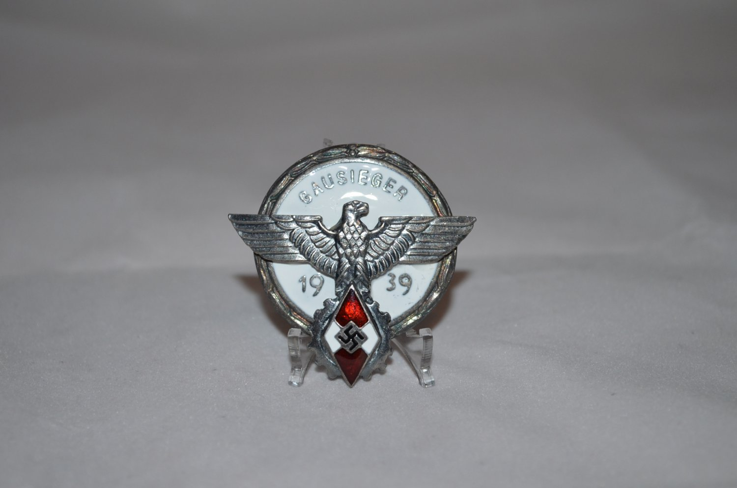 WWII THE GERMAN SILVER BADGE GAUSIEGER 1939
