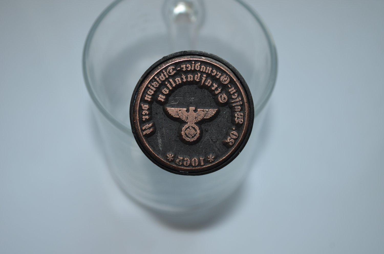WWII GERMAN STAMP 20. WAFFEN- GRENADIER - DIVISION DER SS STRAFDATALIAN 1065