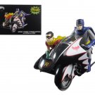 1966 Batcycle Side Car with Batman and Robin Figures 1/12 Diecast Model by Hotwheels