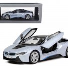 BMW i8 Ionic Silver/Matt Blue 1/18 Diecast Model Car by Paragon