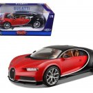 2016 Bugatti Chiron Red with Black 1:18 Diecast Model Car by Bburago