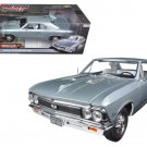 1966 Chevrolet Chevelle SS Silver Chateau Slate Limited Edition  1/18 Diecast Model Car by Autoworld