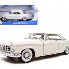 1956 Chrysler 300B Diecast Model White 1/18 Die Cast Car By Maisto