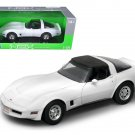 1982 Chevrolet Corvette White 1/18 Diecast Car Model by Welly