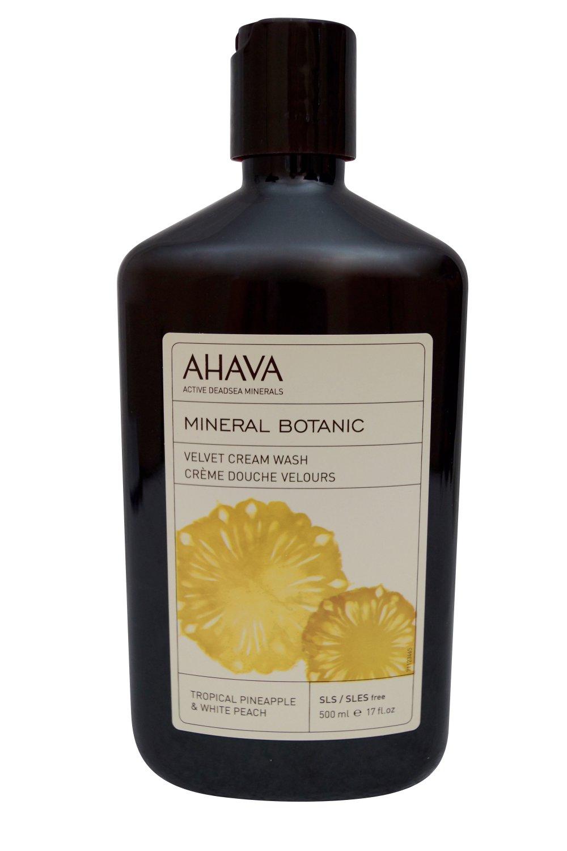 AHAVA Mineral Botanic Velvet Cream Wash Tropical Pineapple  White Peach 17 fl oz
