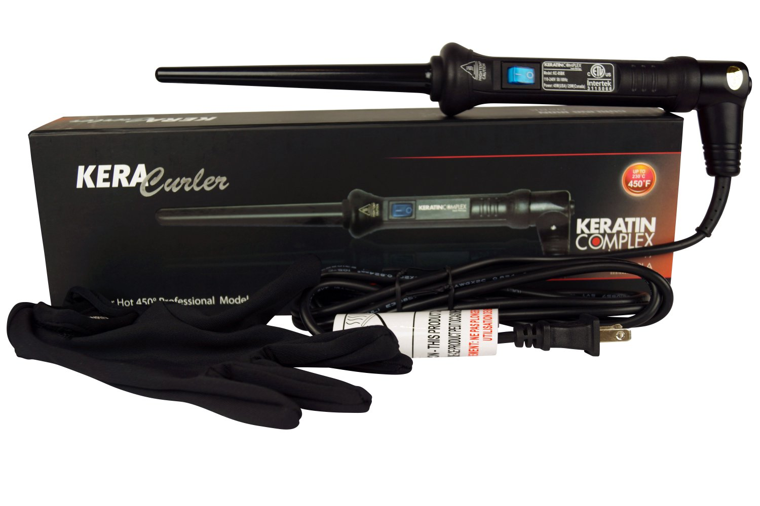 """Keratin Complex 1/2"""" Tapered Curling Iron by Cortex"""