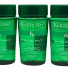 Kerastase Bain Age Recharge Shampoo 3.4 oz ea Set of Three Travel Size Bottles