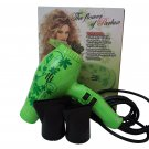 Parlux 3800 Ionic & Ceramic Green Flower Hair Blow Dryer FOR EUROPE/UK USE ONLY