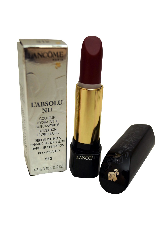 Lancome Paris L'Absolu Nu Replenishing and Enhancing Lipcolor 312 Prune Popeline