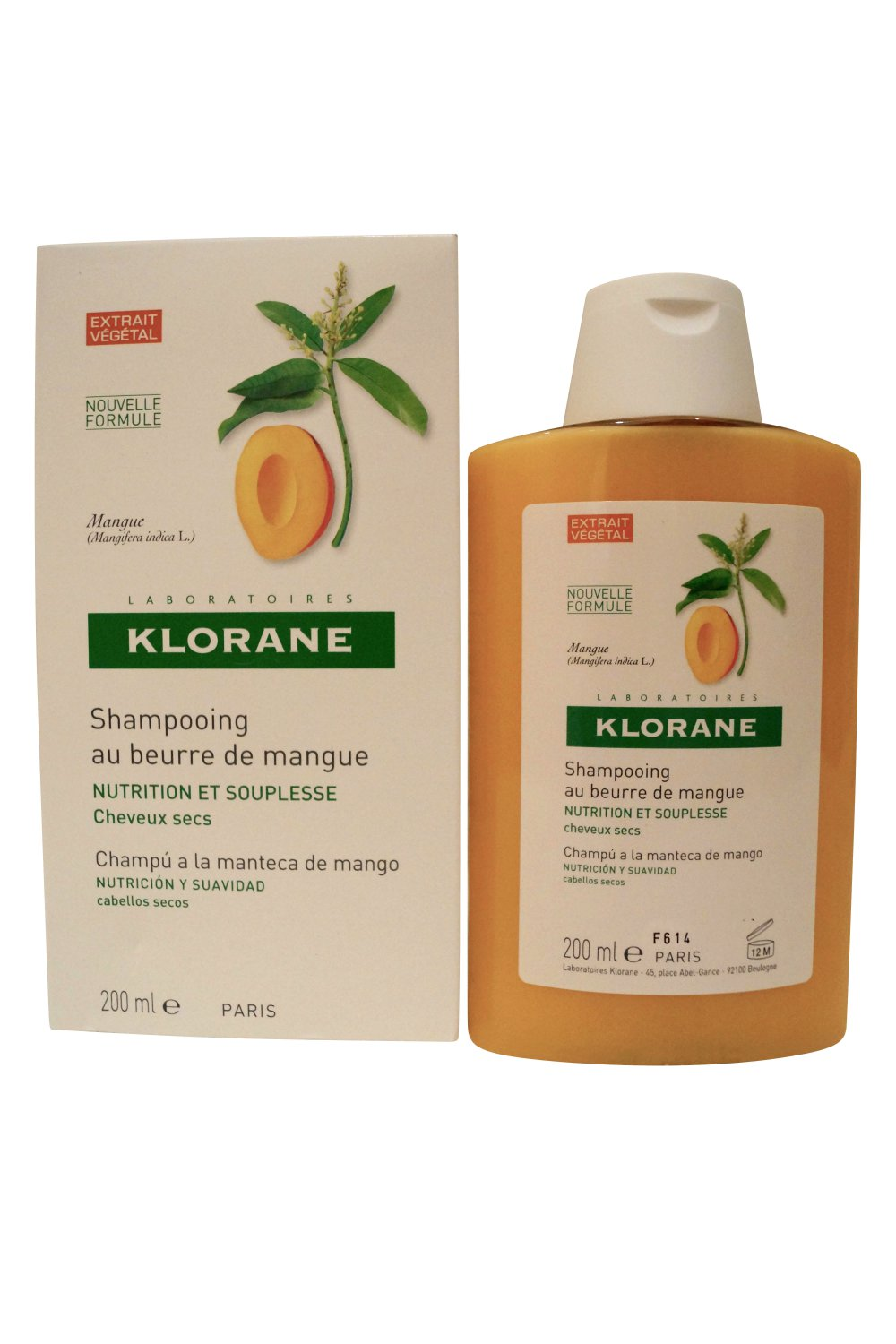 Klorane Laboratories Shampoo with Mango Butter Dry Hair 6.7 oz