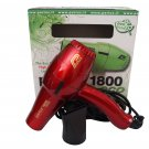 Parlux 1800 Eco Edition Red Hair Blow Dryer FOR EUROPE/UK USE ONLY