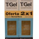 Neutrogena T/Gel Shampoo Normal to Dry Duo 2x250 ml  (SPANISH LABEL)