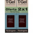 Neutrogena T/Gel Dandruff Shampoo Norm-Oily 250ml (SPANISH LABEL) 2 x 8.5 oz