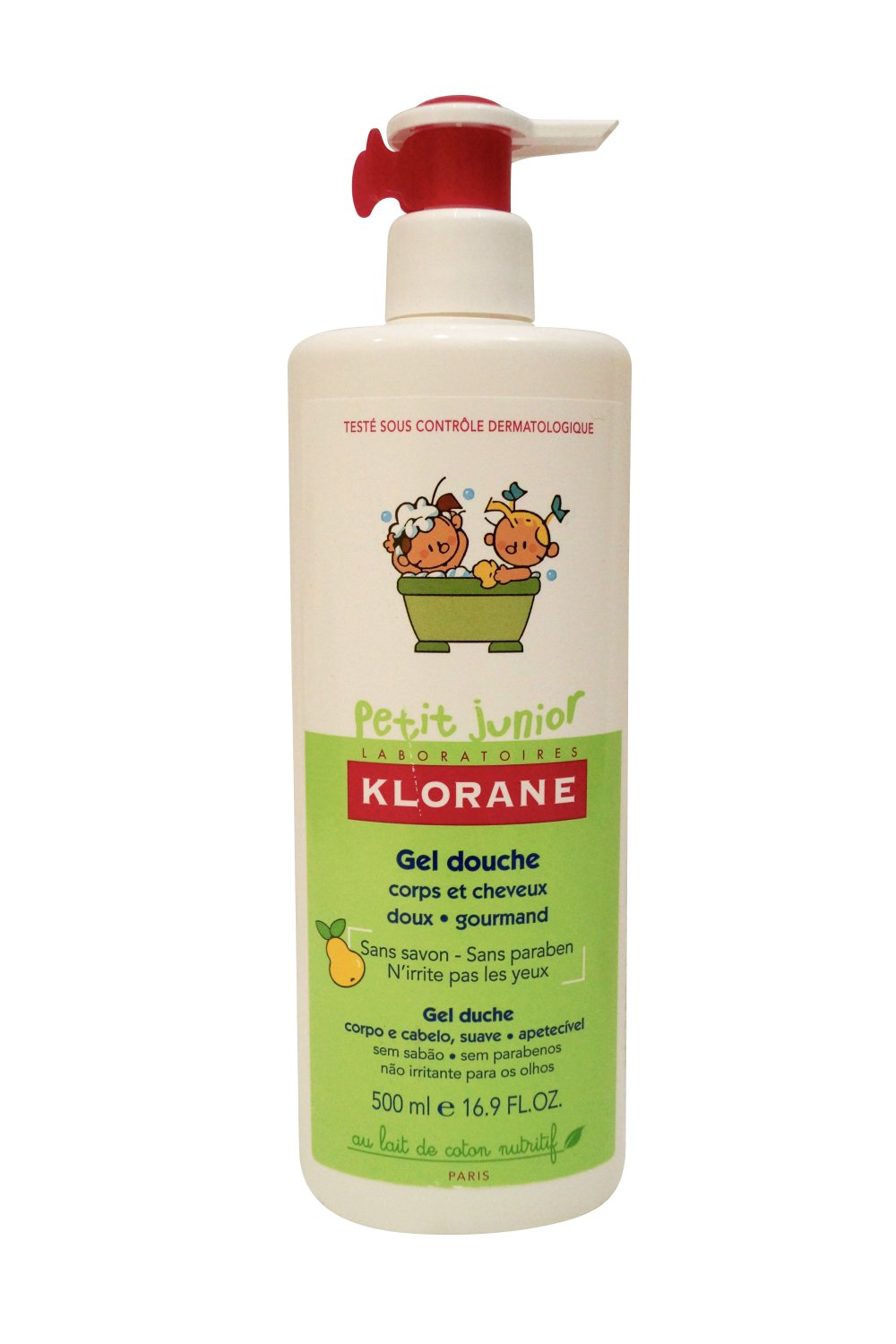 Klorane Laboratories Petite Junior Shower Gel for Hair and Body Pear 16.9 oz