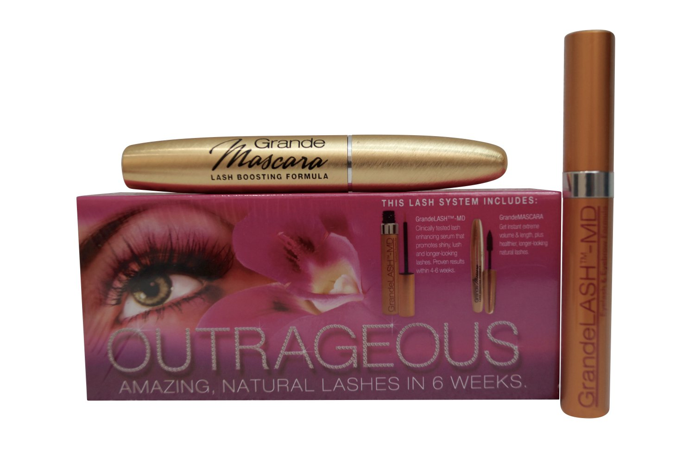 Grandelash MD Gift Set MD Eyelash Enhancer 2ml & Grande Mascara Brown