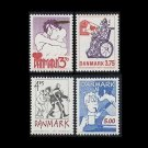 DENMARK COMIC BOOKS SET OF FOUR FIRST DAY COVERS 1992
