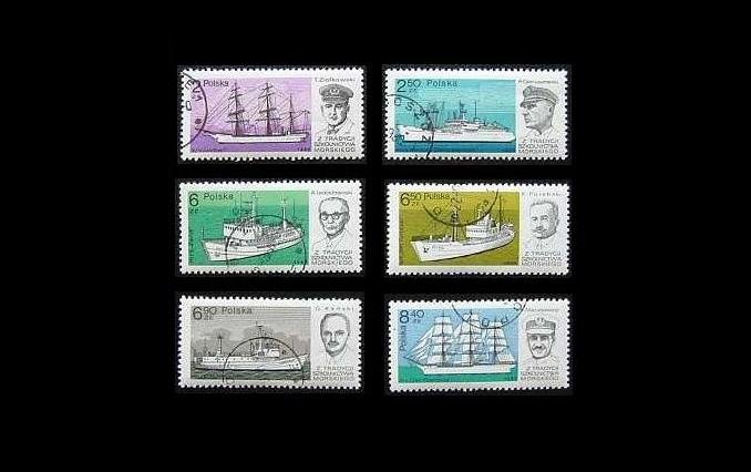 POLAND TRAINING SHIP STAMPS 1980