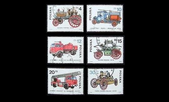 POLAND DEVELOPMENT OF THE FIRE BRIGADE STAMPS 1985