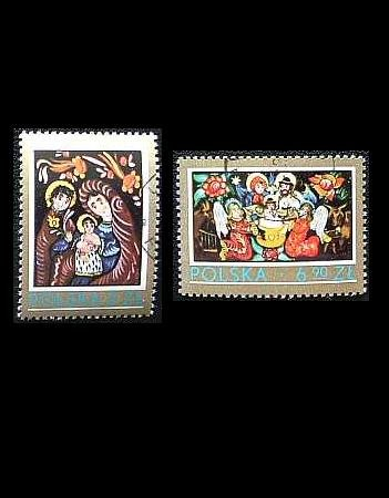 POLAND CHRISTMAS ISSUE STAMPS 1979