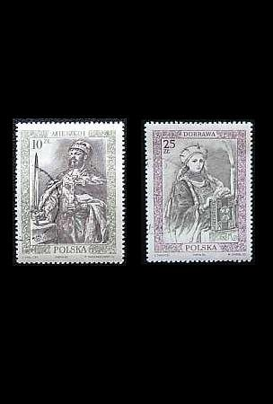 POLAND PAINTINGS OF POLISH RULERS ON STAMPS 1986