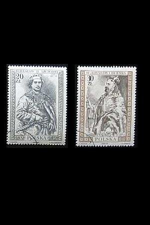 POLAND PAINTINGS OF POLISH RULERS ON STAMPS 1989