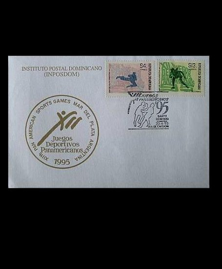 DOMINICAN REPUBLIC XIIth PAN AMERICAN GAMES STAMPS FIRST DAY COVER 1995