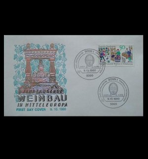 GERMANY  WEINBAU MITTEL EUROPA STAMP FIRST DAY COVER