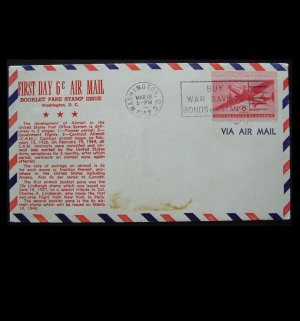 UNITED STATES WARTIME AIR MAIL FIRST DAY COVER 1943