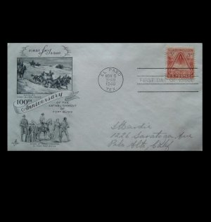 UNITED STATES 100th ANNIVERSARY FORT BLISS FIRST DAY COVER 1948