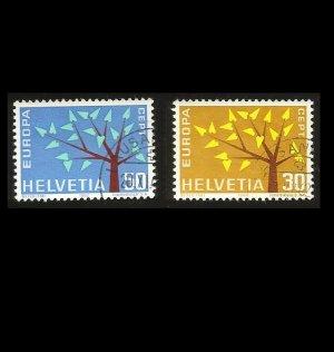 EUROPA CEPT STAMPS SWITZERLAND HELVETIA 1962