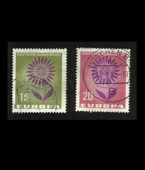 GERMANY EUROPA STAMPS 1964 FLOWER EUROPA STAMPS