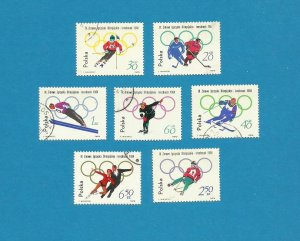 POLAND WINTER OLYMPIC GAMES INNSBRUCK STAMPS 1964