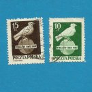 POLAND PEACE DAY DOVE ON GLOBE STAMPS 1950