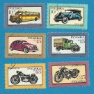 POLAND POLISH CARS AND MOTORCYCLE STAMPS 1987