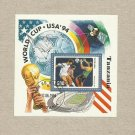 TANZANIA SOCCER FIFA FOOTBALL WORLD CUP USA 1994 STAMP MINISHEET