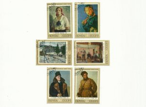 RUSSIA SOVIET CCCP SOVIET PAINTINGS STAMPS 1972